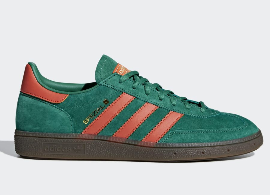 Adidas Handball Spezial Shoes - Bold Green / Raw Amber / Gum5