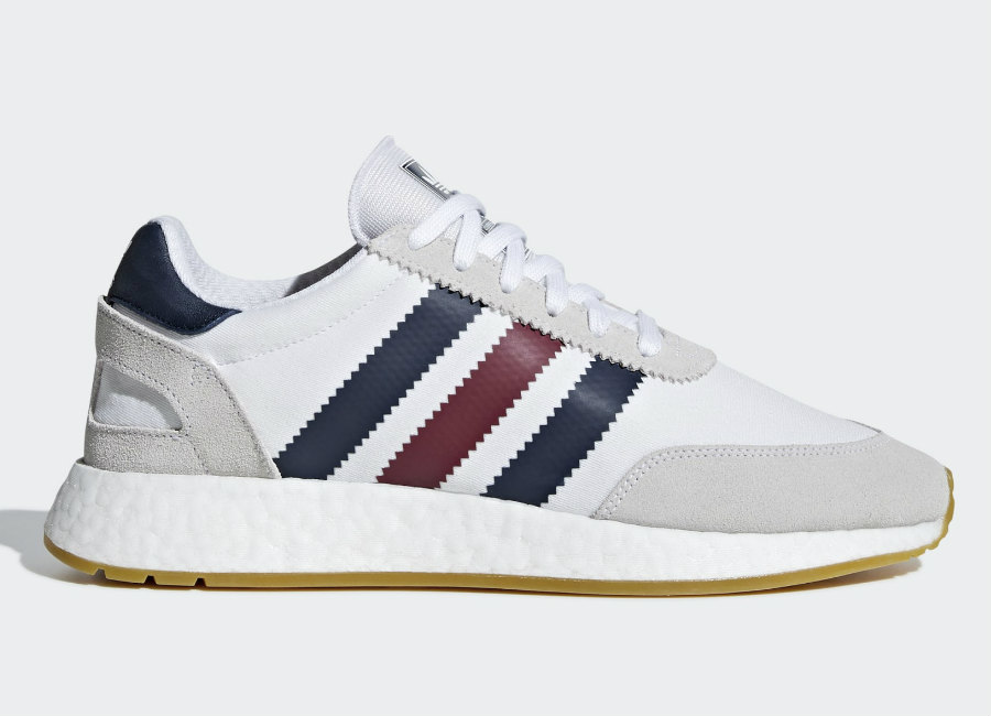 Adidas I-5923 Shoes - Ftwr White / Collegiate Burgundy / Collegiate Navy