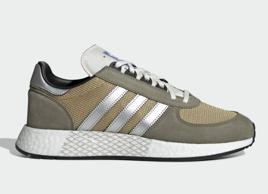 Adidas Marathon Tech Shoes - Trace Cargo / Silver Met / Raw Sand