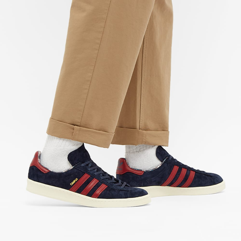 Adidas Campus 80S Samstag - Navy / Burgundy / Off White