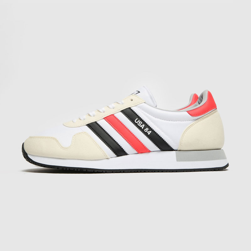 Adidas USA 84 Trainers - White / Black / Red
