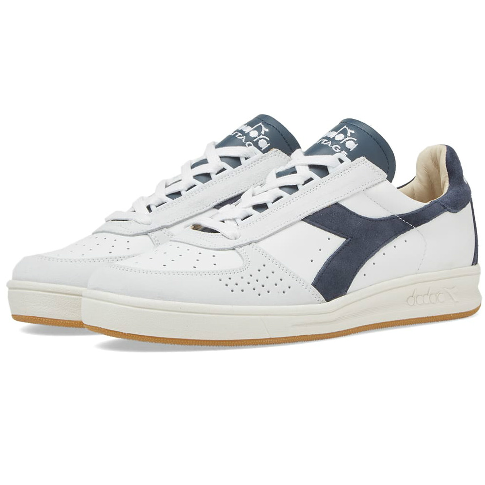 Diadora B.Elite - Made In Italy - White / Blue Denim
