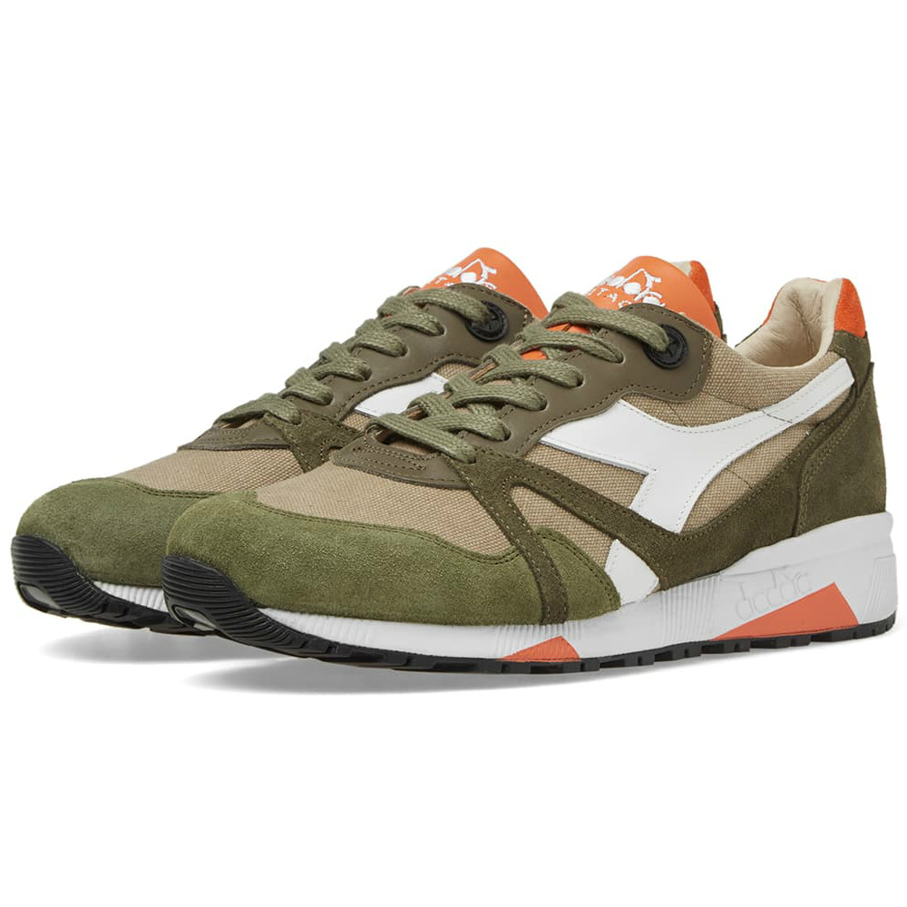 Diadora N9000 H C Sw - Made In Italy - Burnt Olive Green