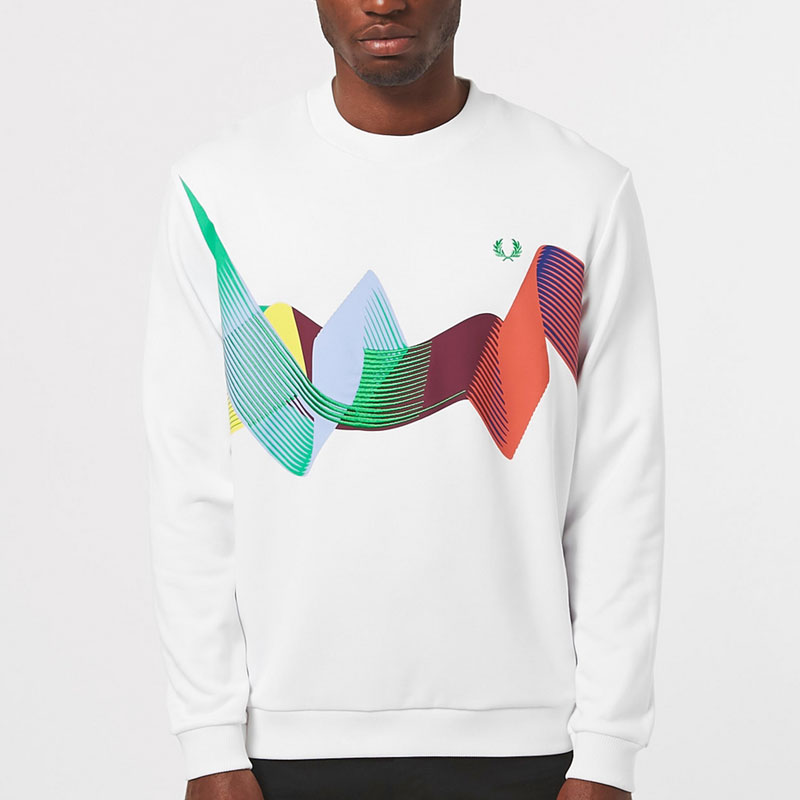 Fred Perry Abstract Sweatshirt - White