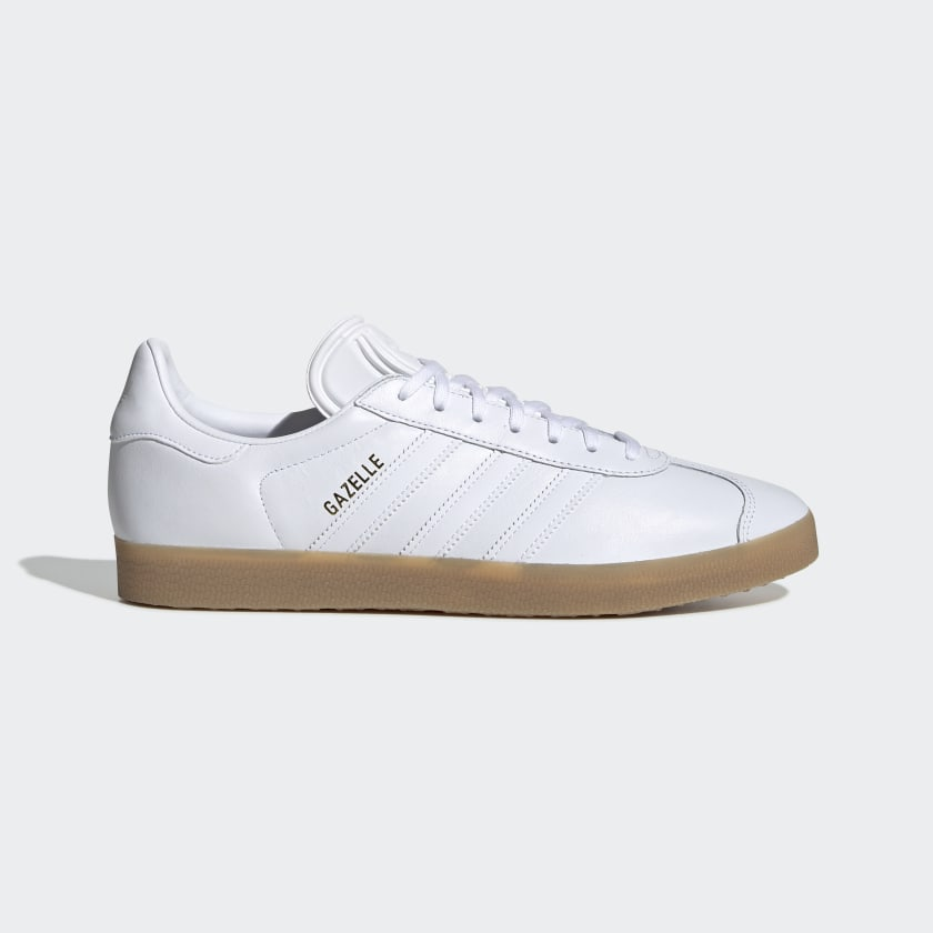 Adidas Gazelle Shoes - Cloud White / Cloud White / Gum4