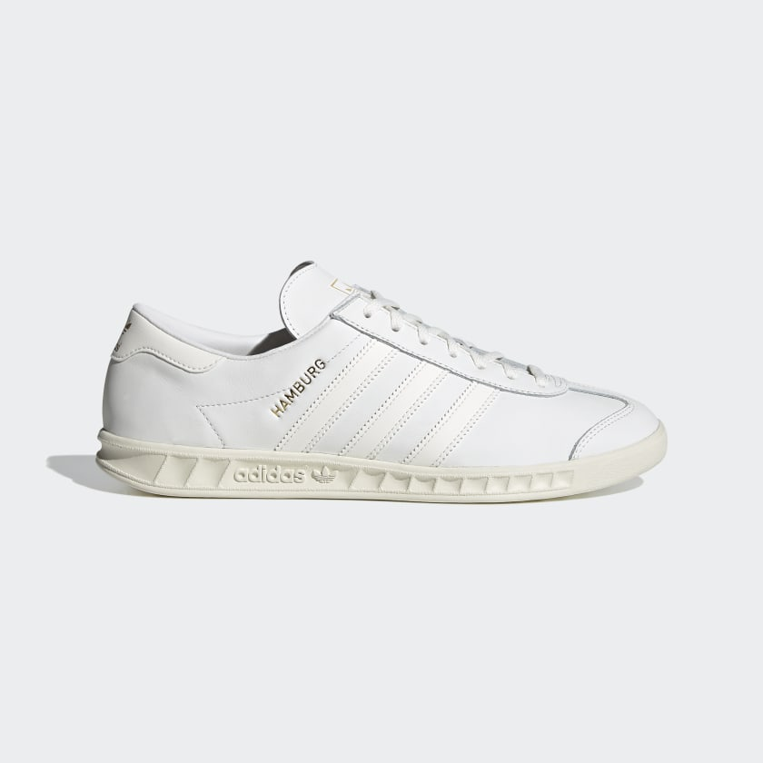 Adidas Hamburg Shoes - Core White / Core White / Off White