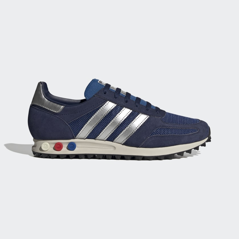 Adidas La Trainer Shoes - Dark Blue / Cream White / Scarlet