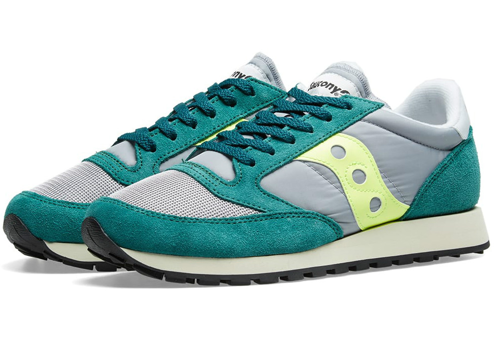 Saucony Jazz Original Vintage - Grey / Green / Neon