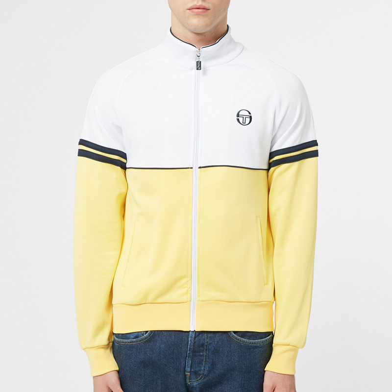 Sergio Tacchini Orion Track Top - White / Yellow
