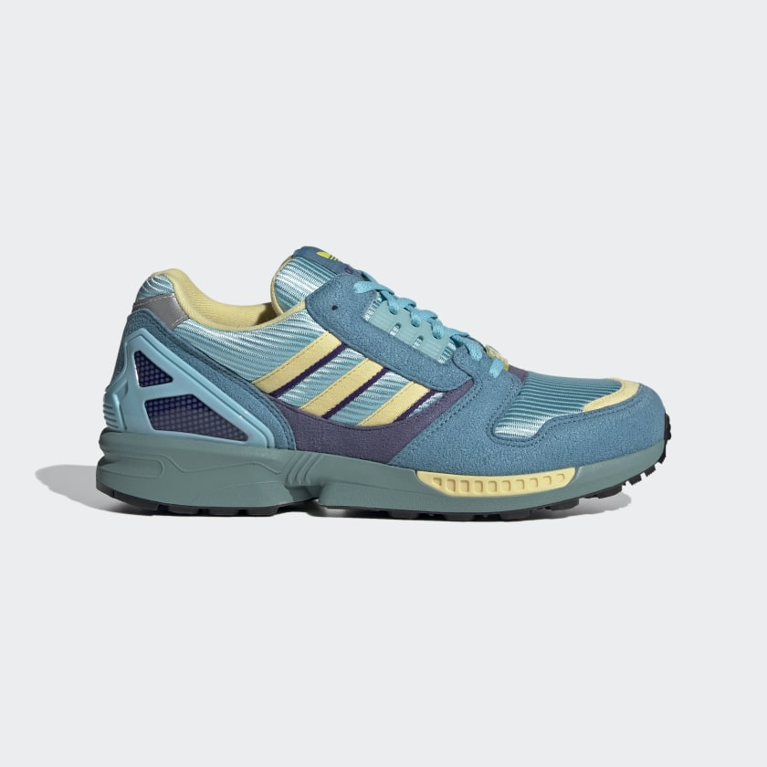 Adidas ZX 8000 Shoes - Light Blue / Shock Yellow / Sand