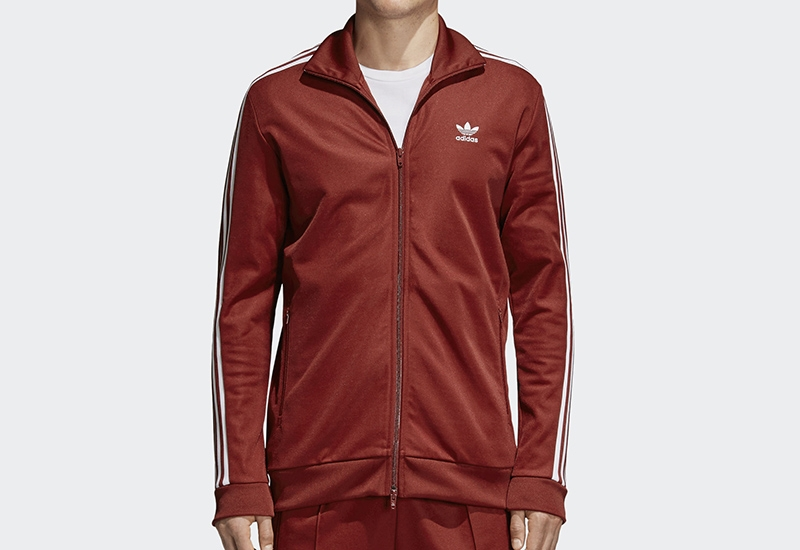 Adidas Bb Track Jacket - Rust Red