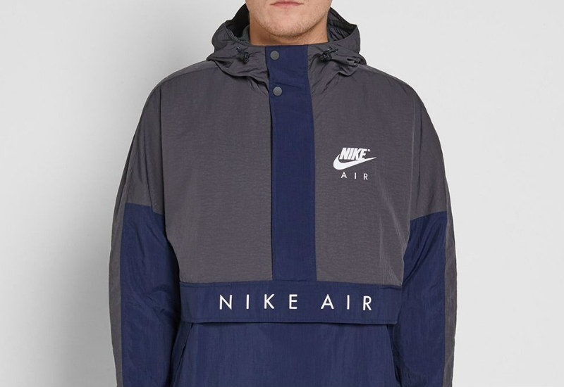 Nike Air Hooded Jacket - Anthracite / Obsidian / Black