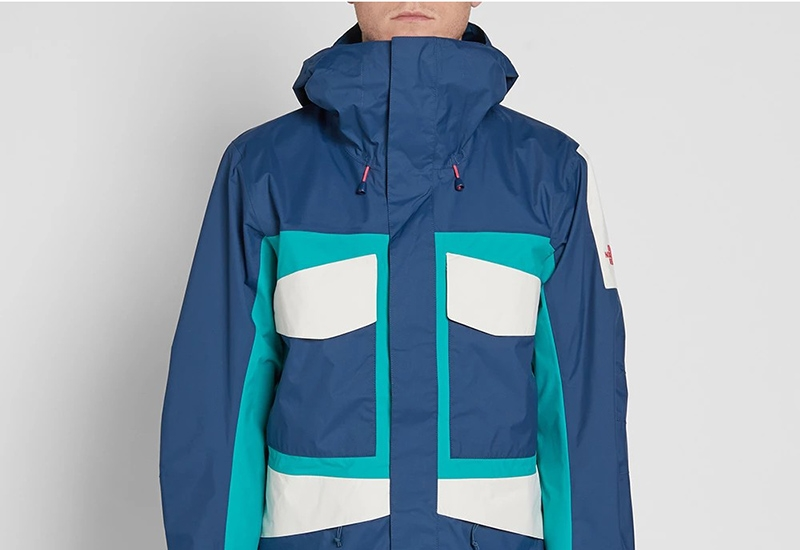 The North Face Fantasy Ridge Jacket - Blue Teal / Green / White