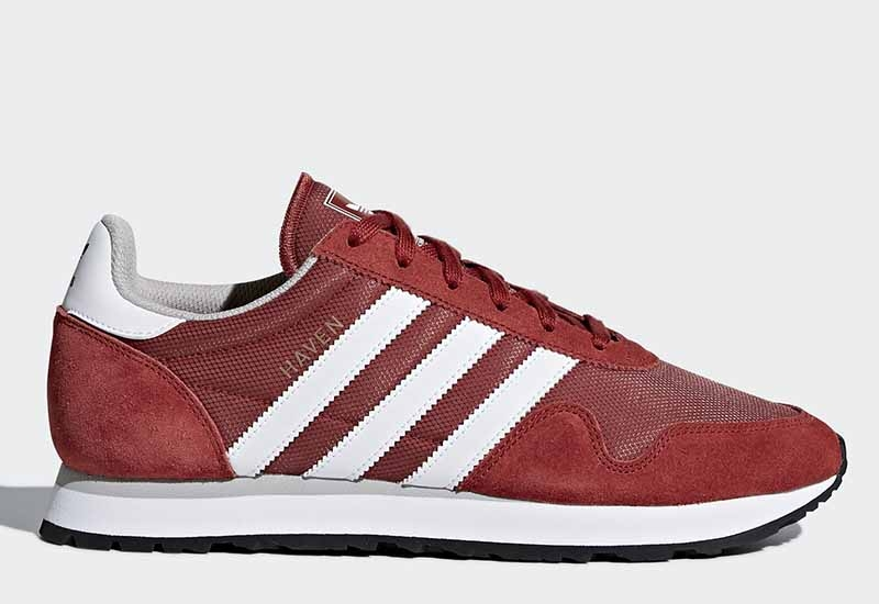 Adidas Haven - Mystery Red / Footwear White / Clear Granite