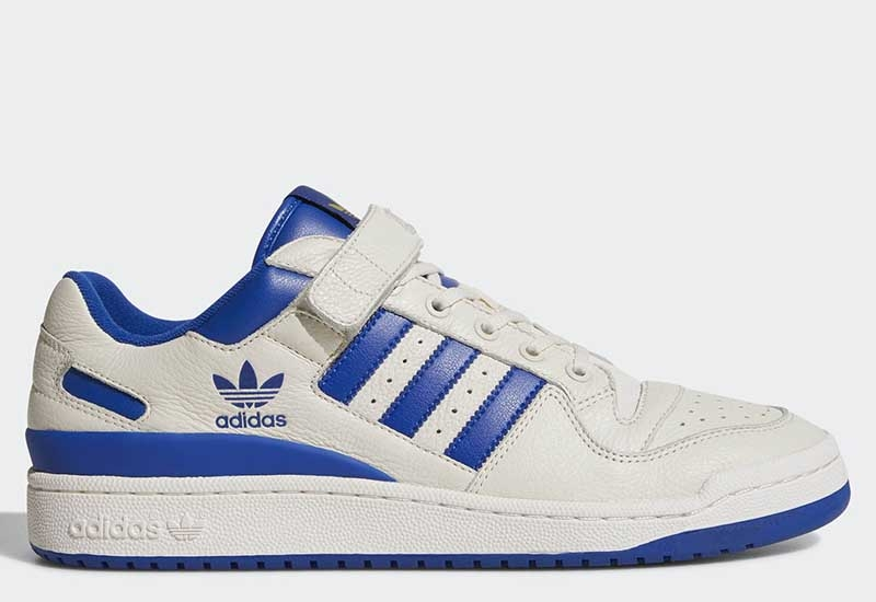 Adidas Forum Low - Chalk White / Collegiate Royal / Gold Metallic
