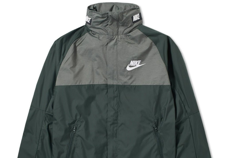 Nike AV15 Woven Jacket - Outdoor Green / Black / White