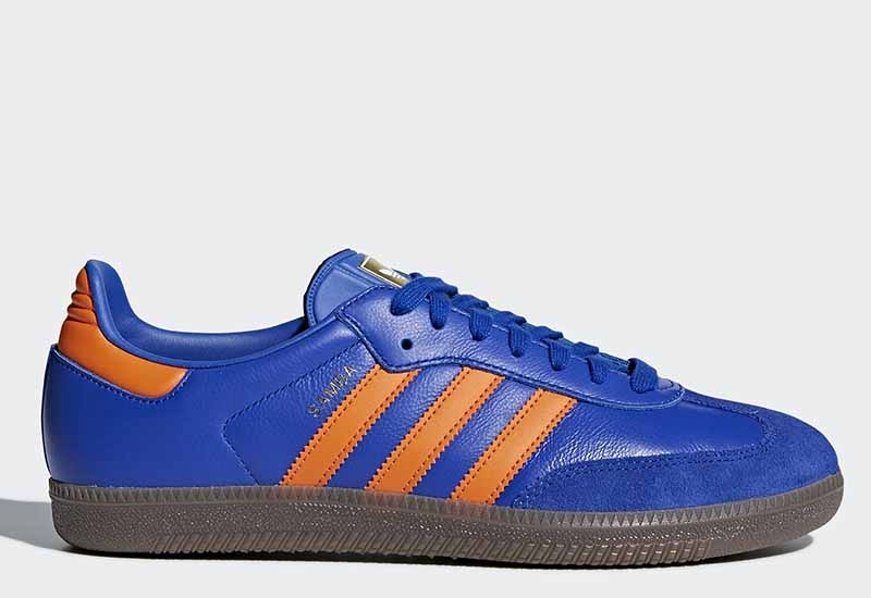 Adidas Samba OG - Bold Blue / Orange / Gum
