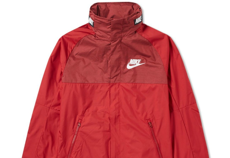 Nike AV15 Woven Jacket - Tough Red / Black / White