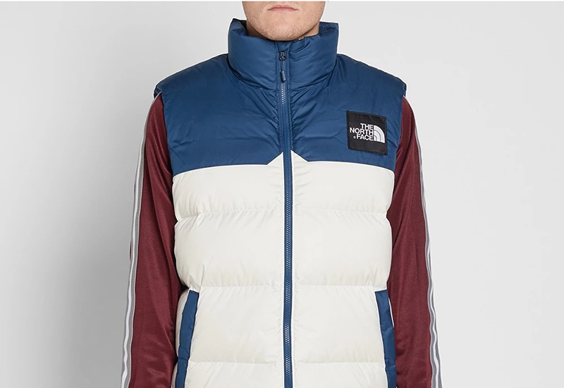 The North Face 1992 Nuptse Vest - Blue Wing Teal / Vintage White