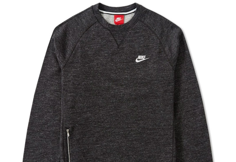 Nike Legacy Crew - Black Heather / Sai