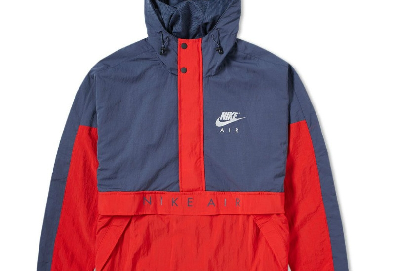 Nike Air Hooded Jacket - Thunder Blue / Red / Grey