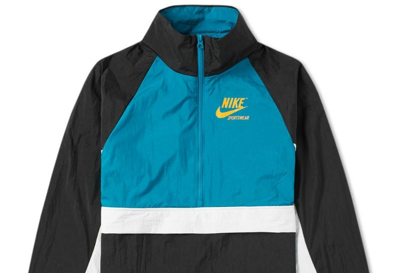 Nike Half Zip Archive Jacket - Black / Blustery / Sail
