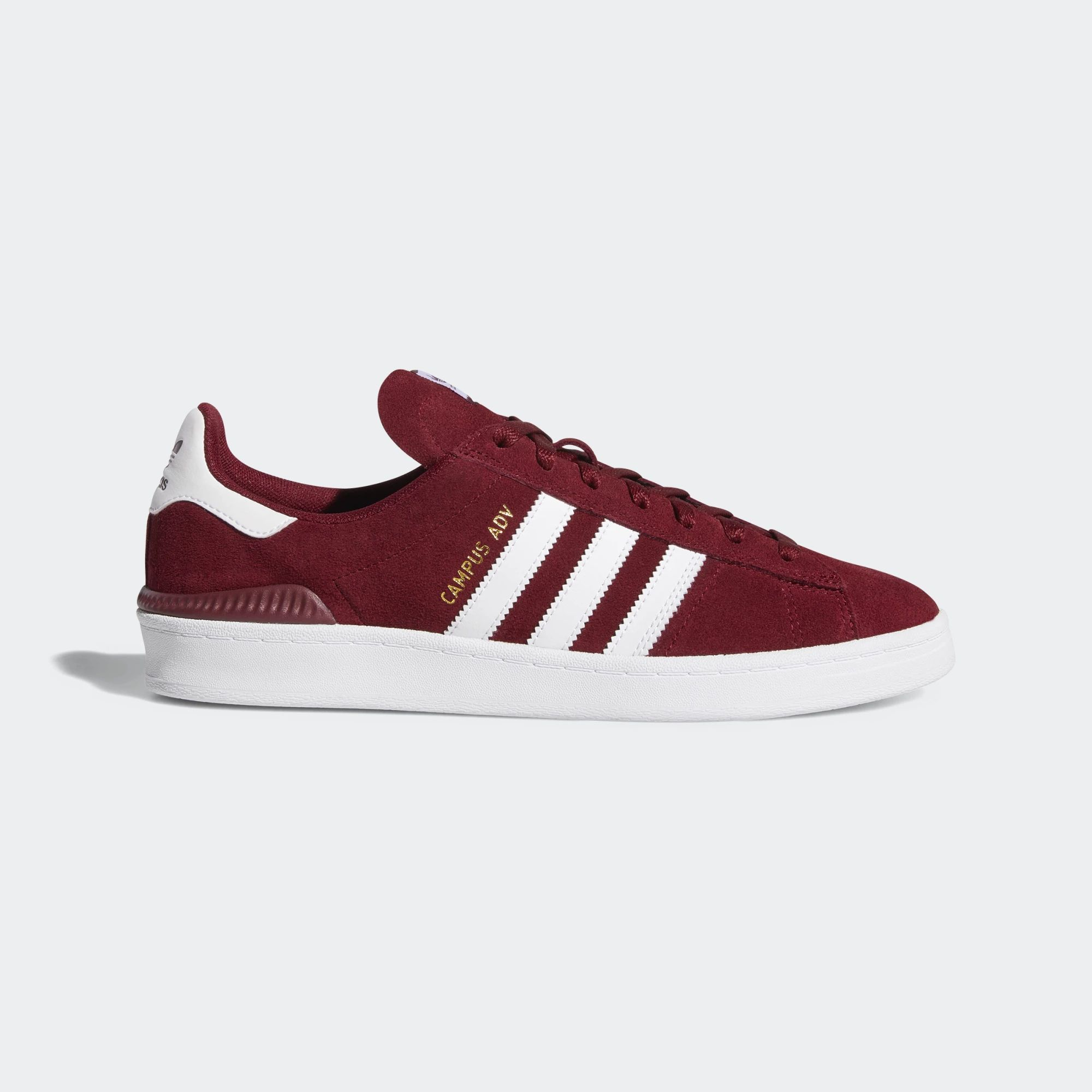 Adidas Campus ADV Shoes - Collegiate Burgundy / Ftwr White / Ftwr White