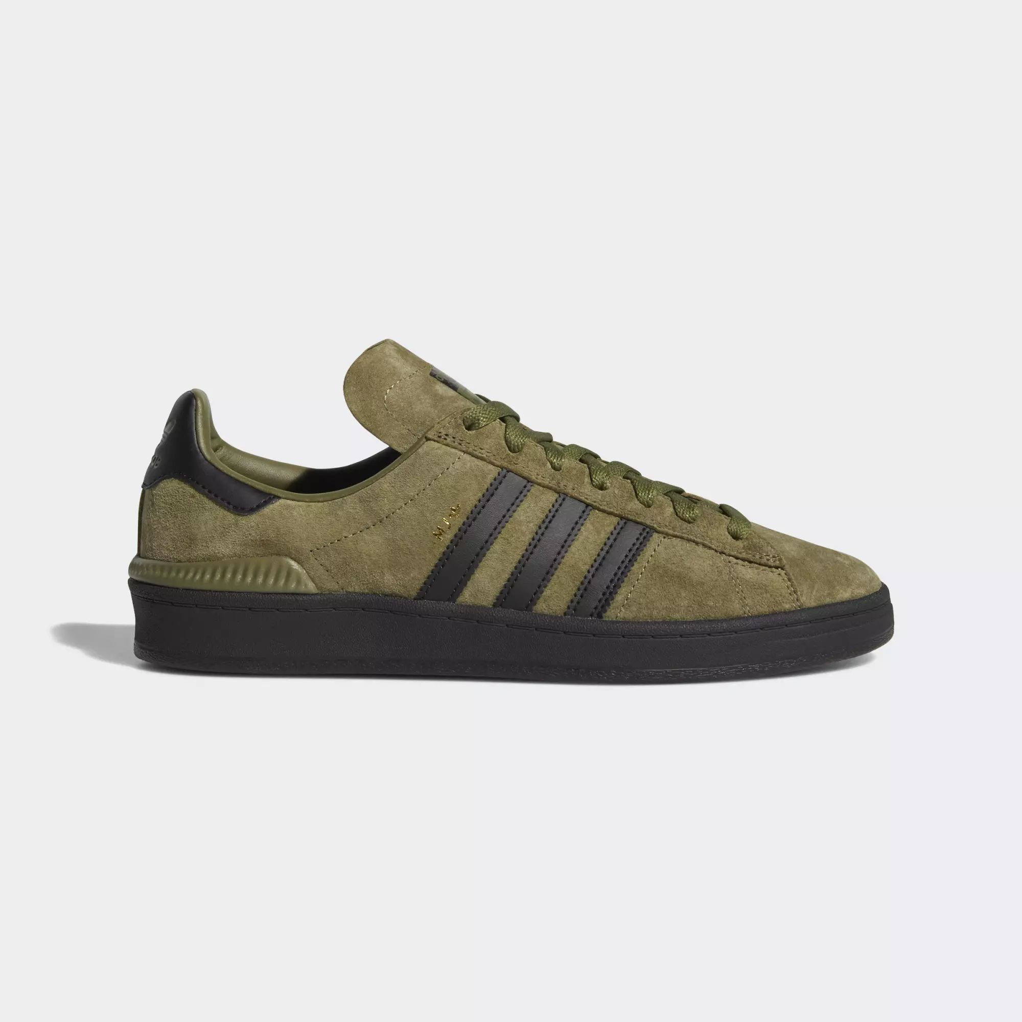 Adidas Campus ADV Shoes - Olive Cargo / Core Black / Gold Met
