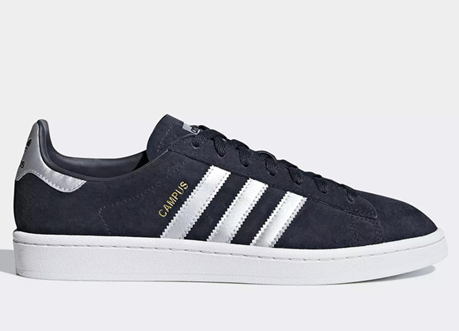 Adidas Campus Shoes - Collegiate Navy / Matte Silver / Ftwr White