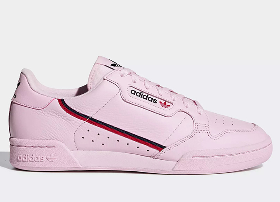 Adidas Continental 80 Shoes - Clear Pink / Scarlet / Collegiate Navy