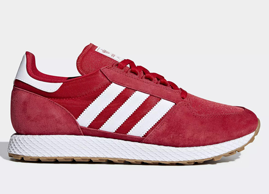 Adidas Forest Grove Shoes - Scarlet / Ftwr White / Core Black