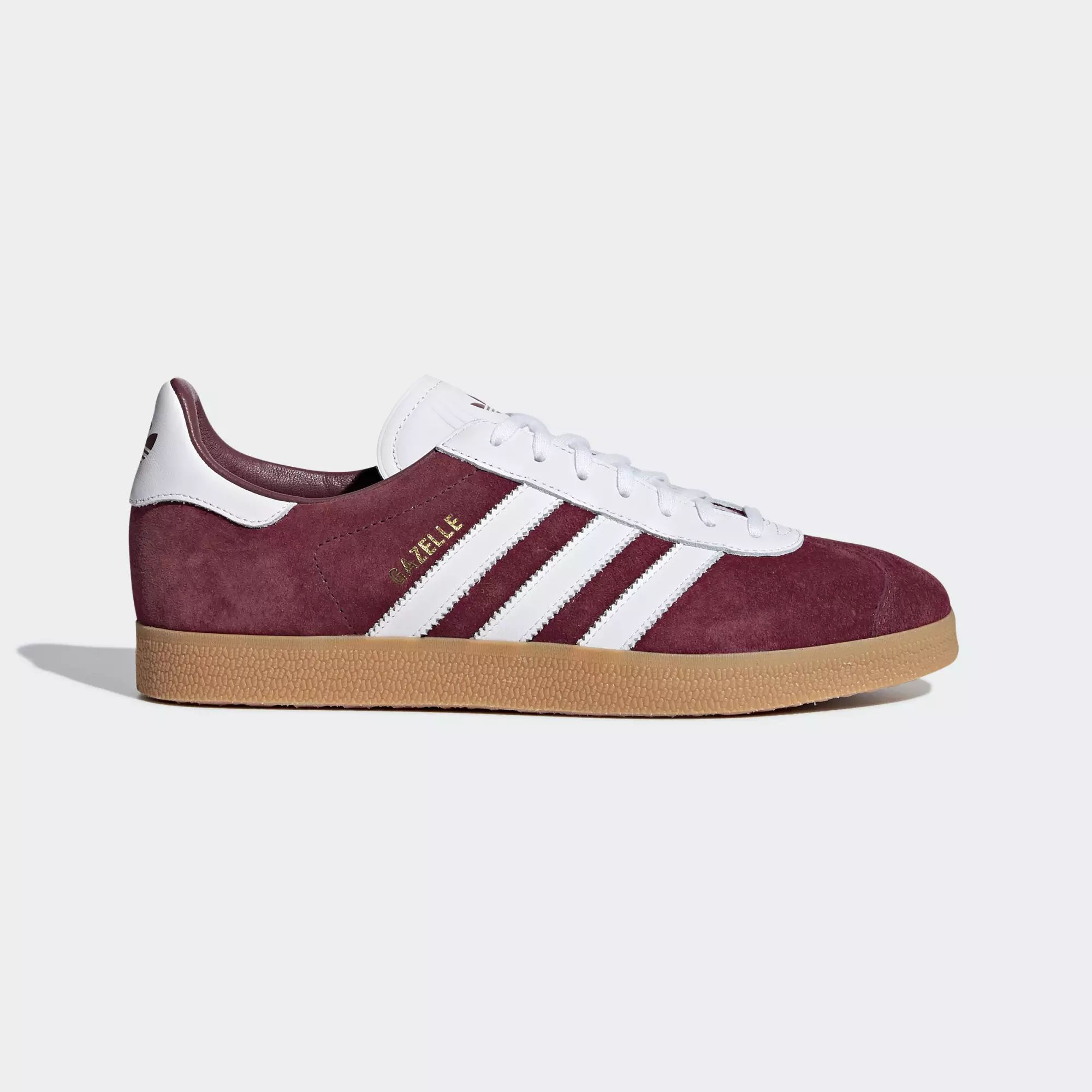Adidas Gazelle Shoes - Collegiate Burgundy / Ftwr White / Ftwr White