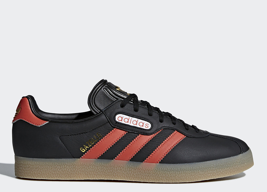 Adidas Gazelle Super Shoes - Core Black / Trace Scarlet / Ftwr White