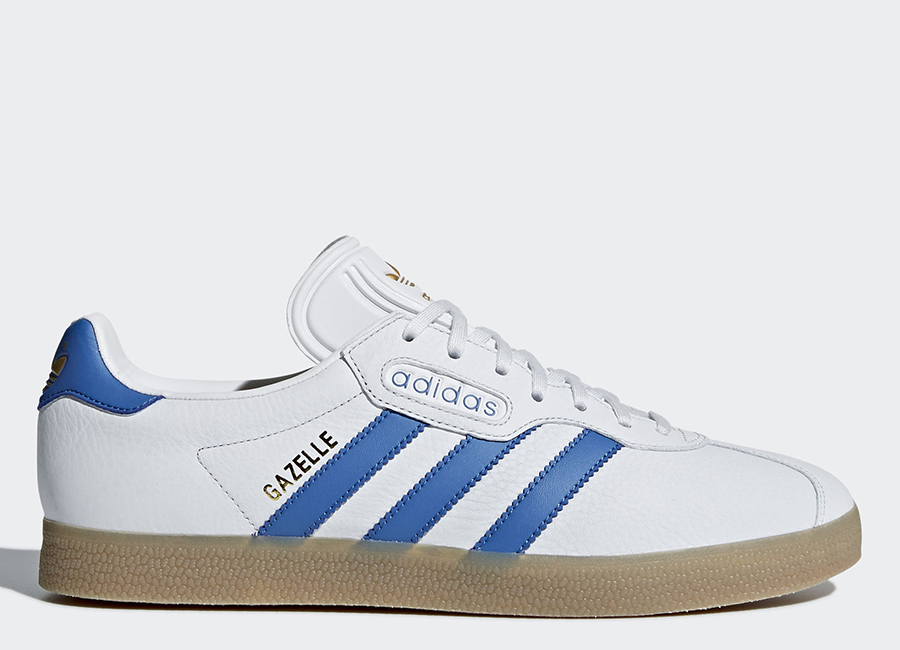 Adidas Gazelle Super Shoes - Crystal White / Trace Blue / Ftwr White