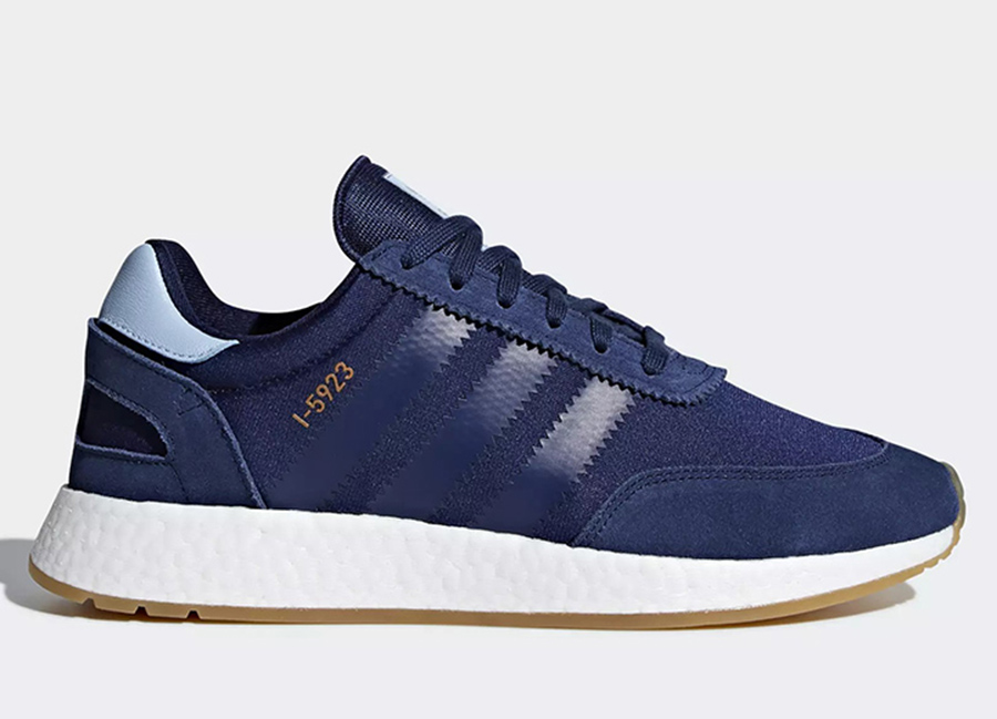 Adidas I-5923 Shoes - Dark Blue / Clear Sky / Gum
