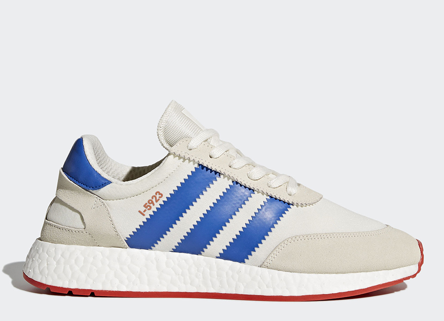 Adidas I-5923 Shoes - Off White / Blue / Core Red