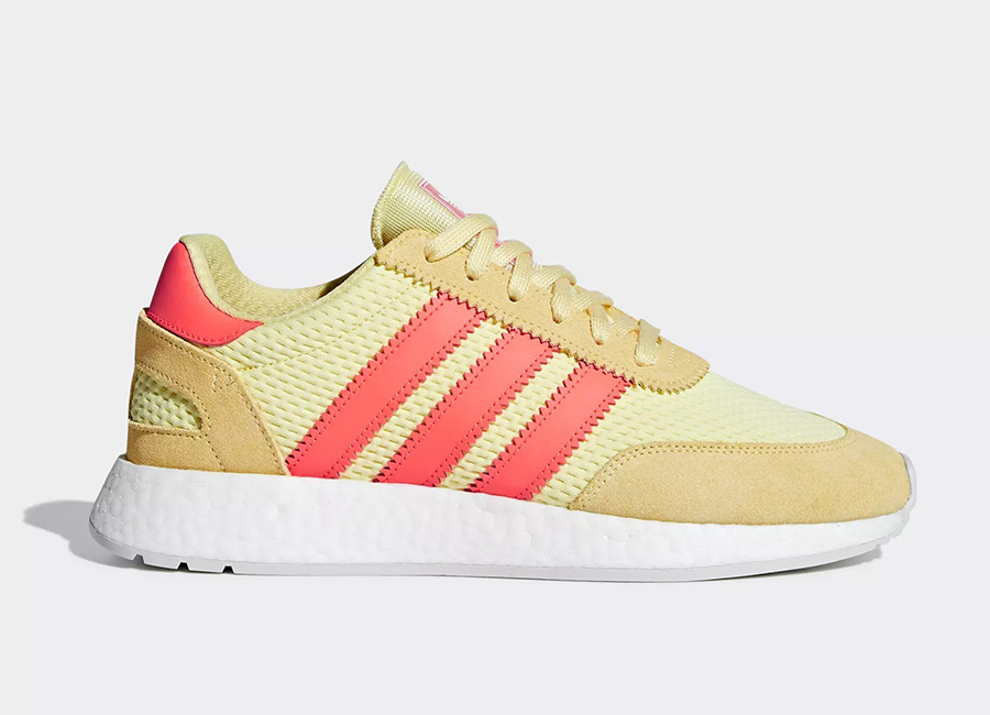 Adidas I-5923 Shoes - Clear Yellow / Solar Red / Grey One