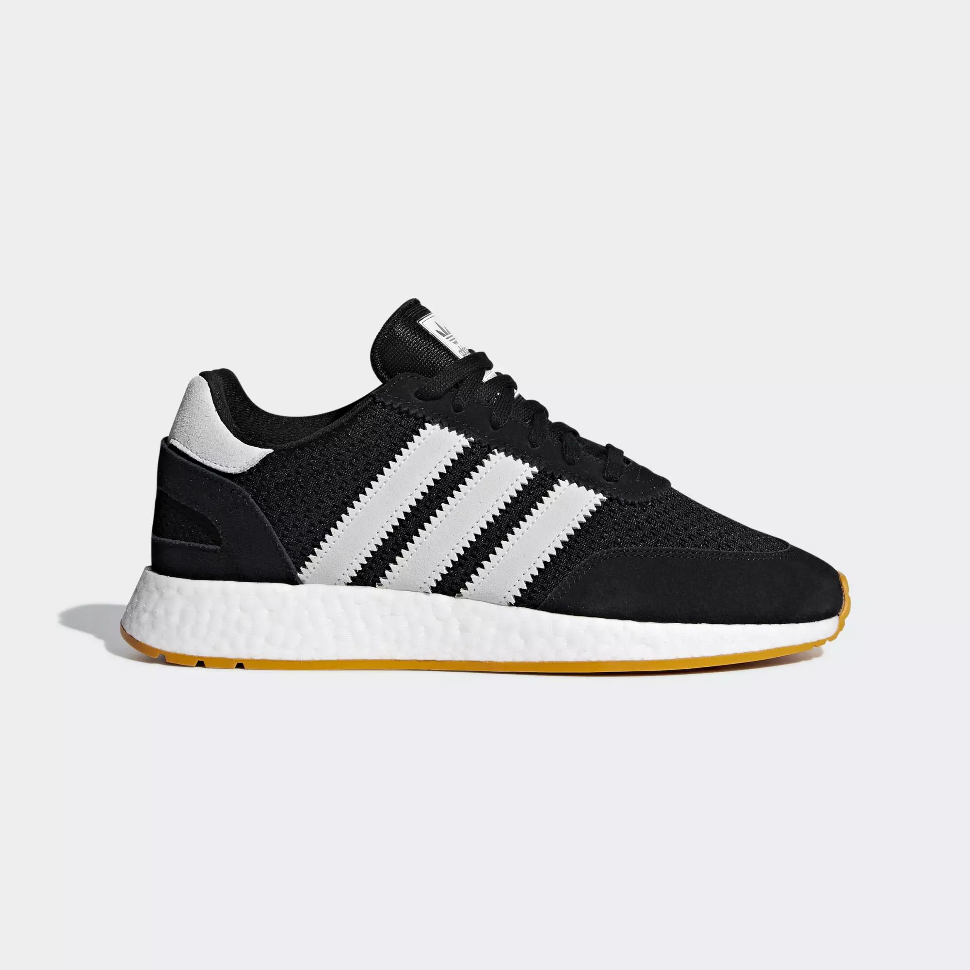 Adidas I-5923 Shoes - Core Black / Crystal White / Tactile Yellow