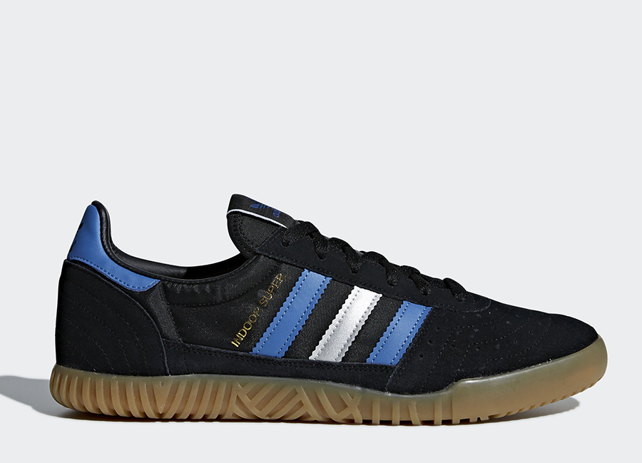 Adidas Indoor Super Shoes - Core Black / Trace Royal / Matte Silver