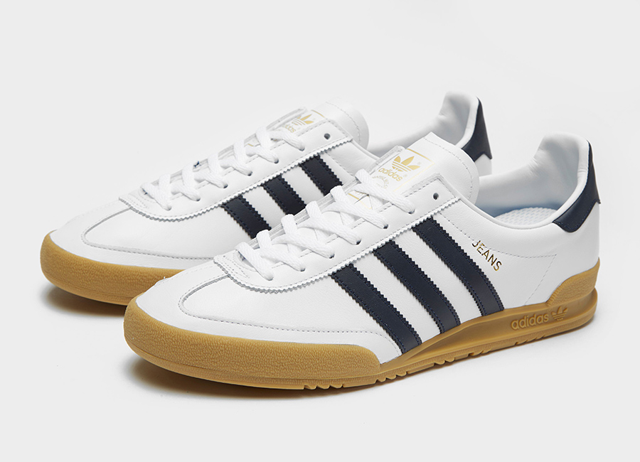 Adidas Jeans Leather Shoes - White / Black