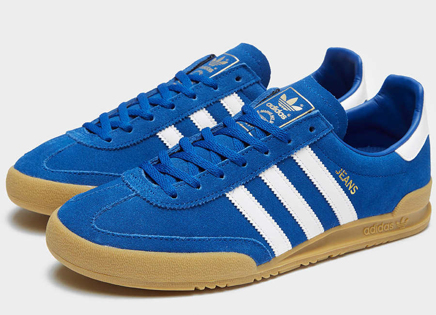 Adidas Jeans Shoes - Blue / White
