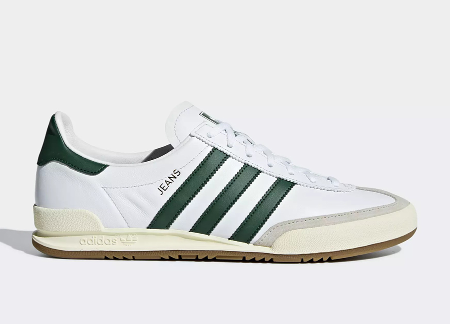 Adidas Jeans Shoes - Ftwr White / Collegiate Green / Clear Brown