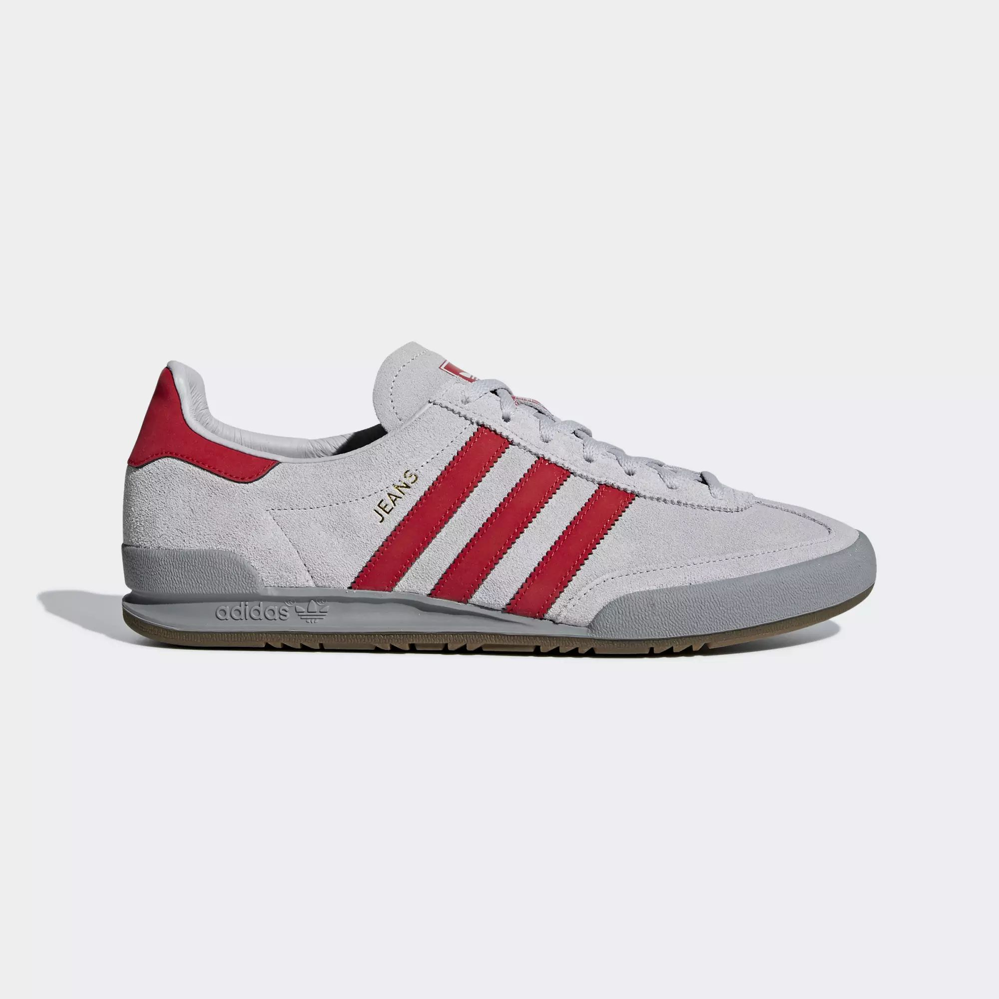 Adidas Jeans Shoes - Grey Two / Scarlet / Ch Solid Grey