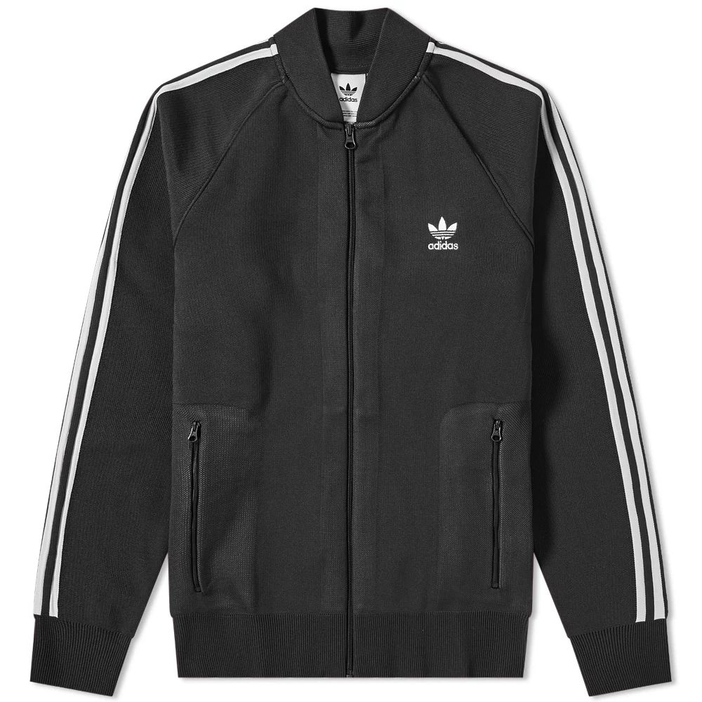 Adidas Knitted Track Top - Black