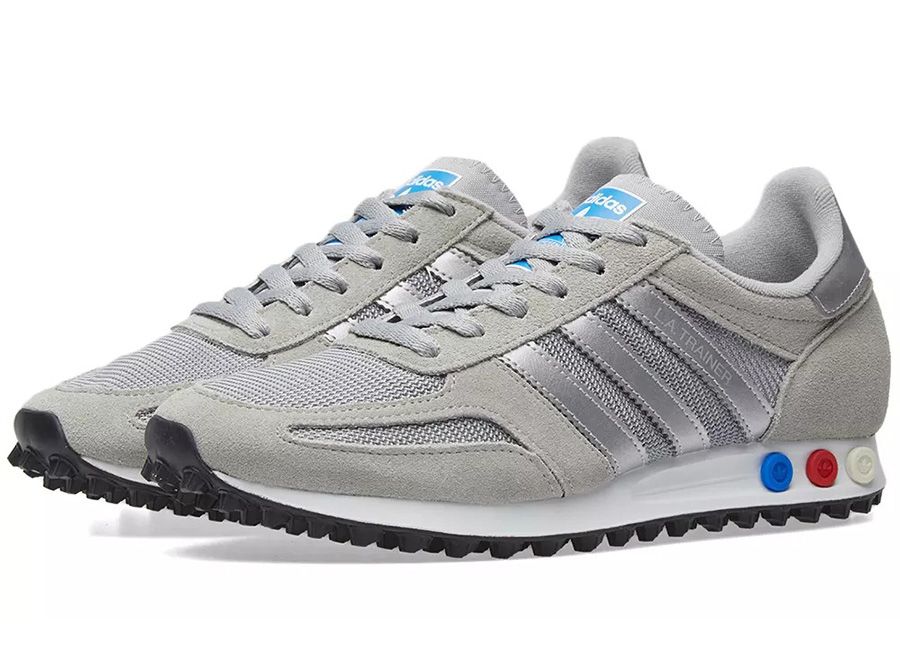 Adidas LA Trainer - Grey / Metallic Silver / White