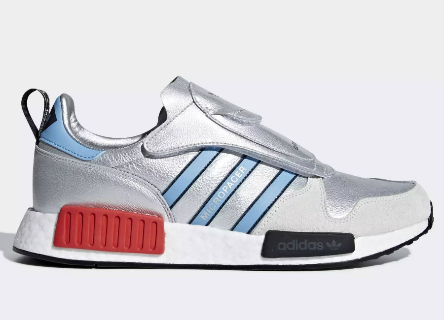 Adidas MicropacerXR1 Shoes - Silver Met / Light Blue / Ftwr WhiteAdidas MicropacerXR1 Shoes - Silver Met / Light Blue / Ftwr White