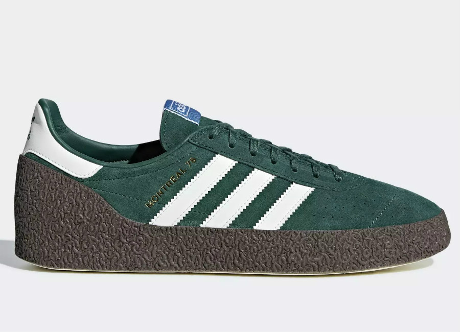 Adidas Montreal '76 Shoes - Noble Green / Off White / Gum