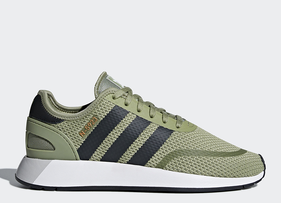 Adidas N-5923 Shoes - Tent Green / Carbon / Ftwr White