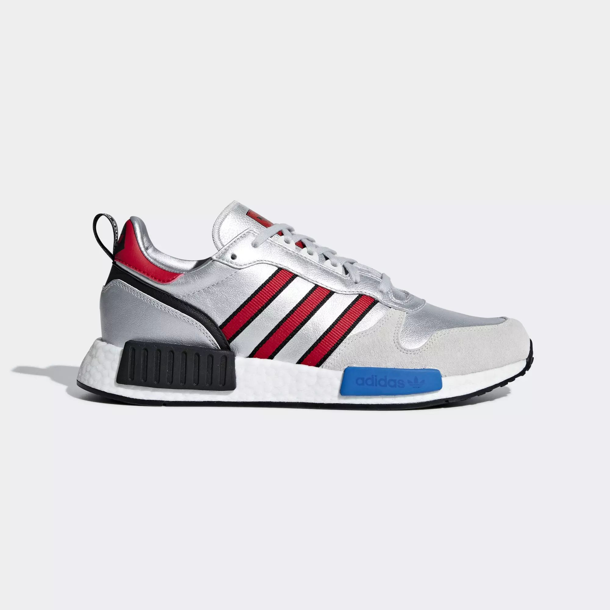 Adidas Rising StarXR1 Shoes - Silver Met / Collegiate Red / Ftwr White