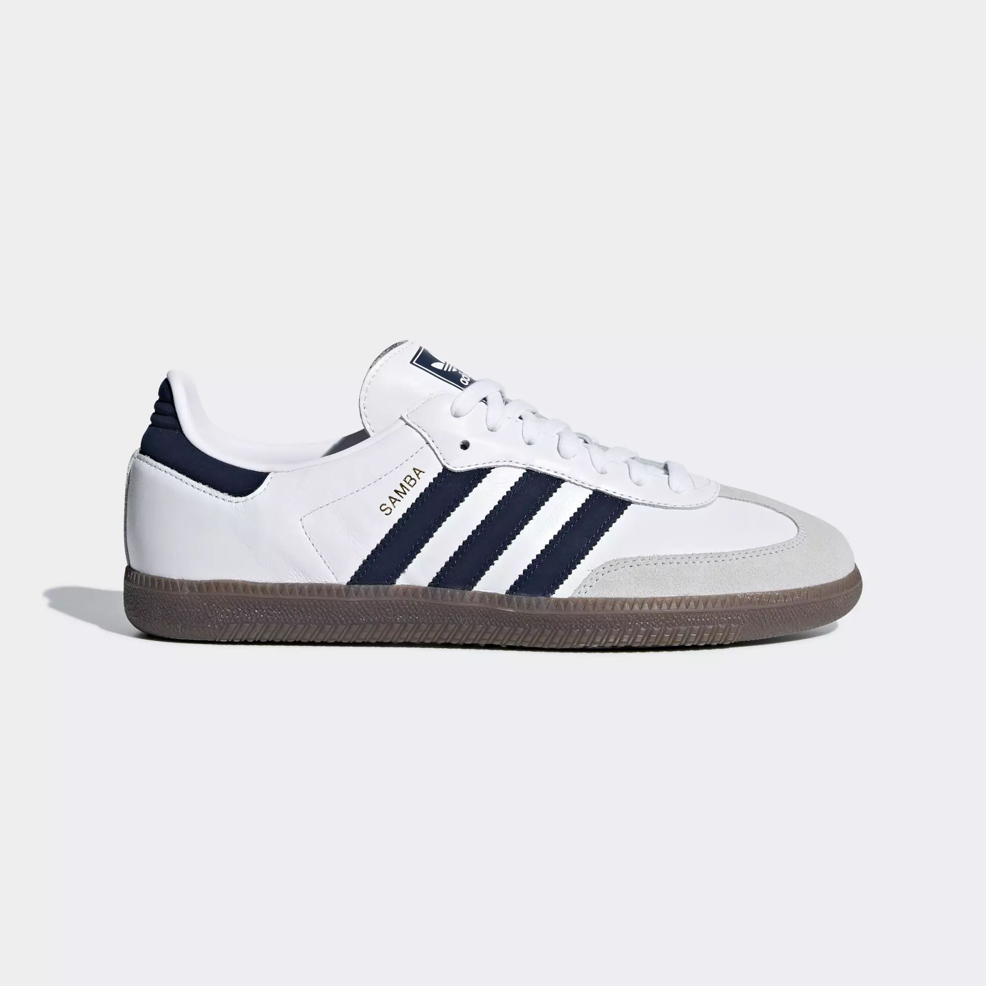 Adidas Samba OG Shoes - Ftwr White / Collegiate Navy / Crystal White
